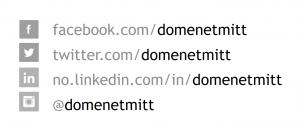 Bilde som viser domenenavnet brukt som profilnavn i sosiale medier