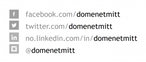 Picture showing use of a domain name as a social media profile name